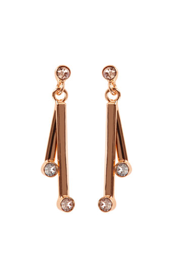 Karen Millen, Tiny Dot Drop earrings Rose Gold Colour 0