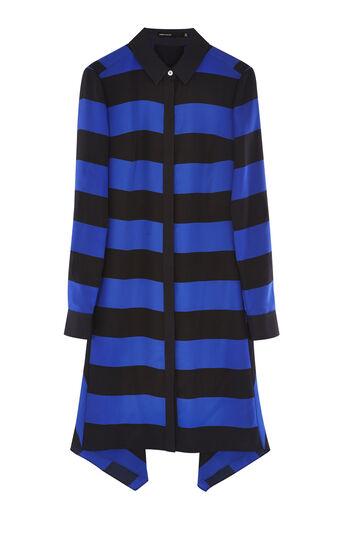 Karen Millen, STRIPED SHIRT DRESS Blue/Multi 0