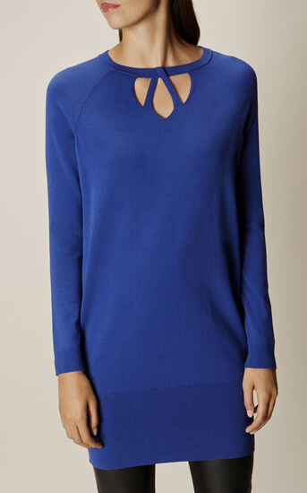 Karen Millen, CUT-OUT NECK TUNIC Blue 2