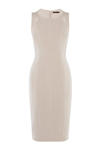 Karen Millen, SINUOUS CURVES DRESS Neutral 0