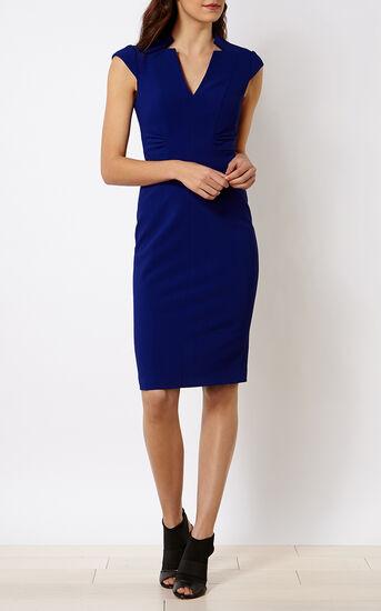 Karen Millen, V-NECK DRESS Blue 1