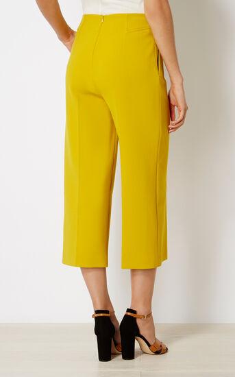 Karen Millen, CROPPED WIDE-LEG TROUSERS Yellow 3