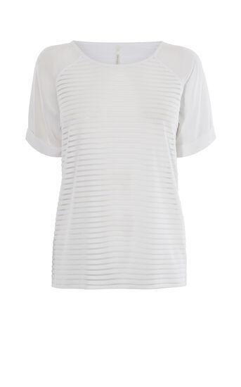 Karen Millen, STRIPED T-SHIRT White 0