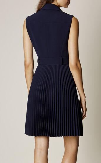 Karen Millen, PLEATED TRENCH DRESS Navy 3