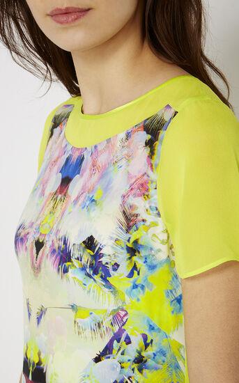 Karen Millen, PRINTED SILK T-SHIRT DRESS Multicolour 4