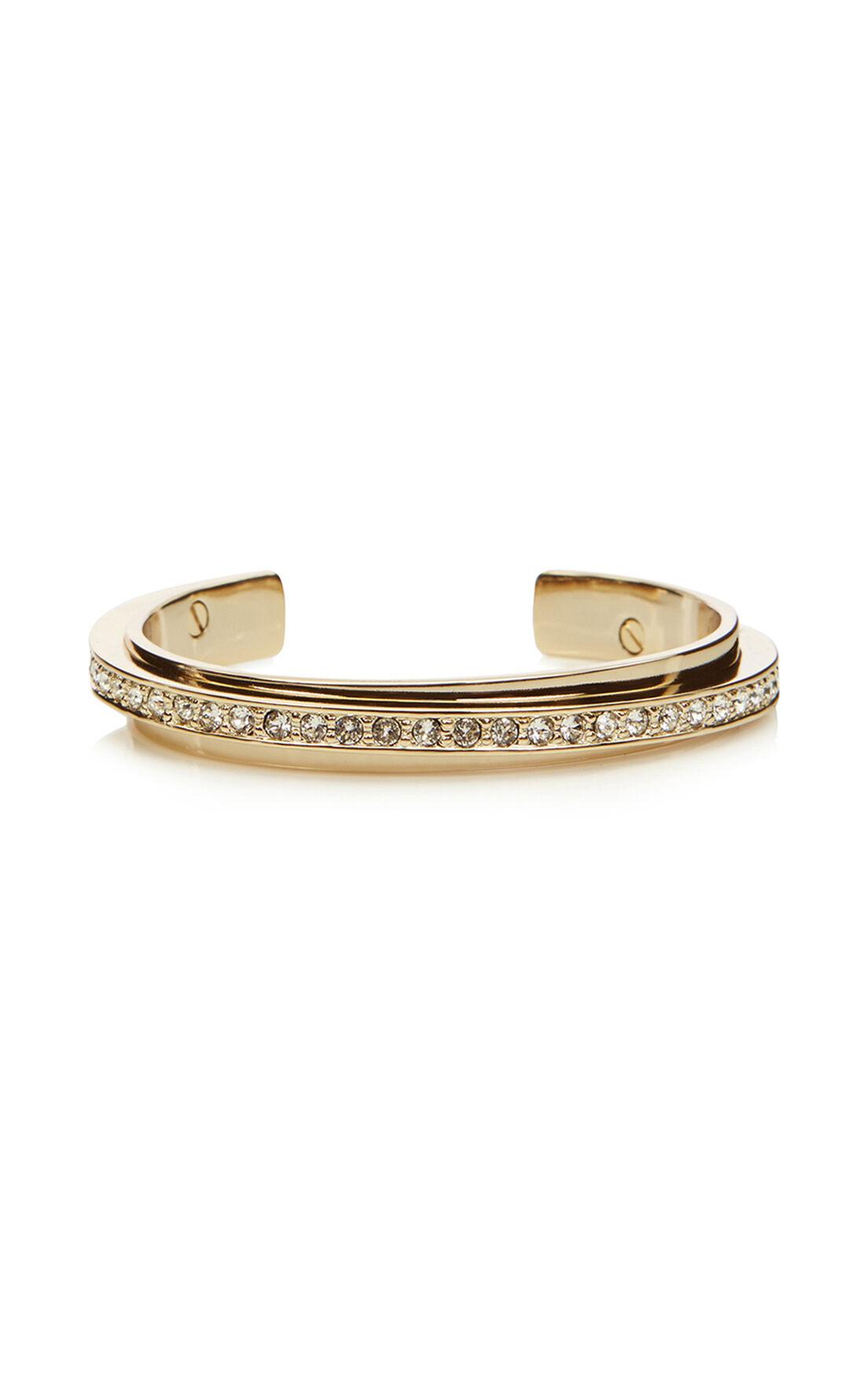 Karen Millen, Crystal diagonal cuff Gold Col 0
