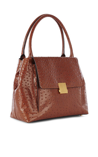 Karen Millen, OSTRICH EMBOSSED BAG Tan 3