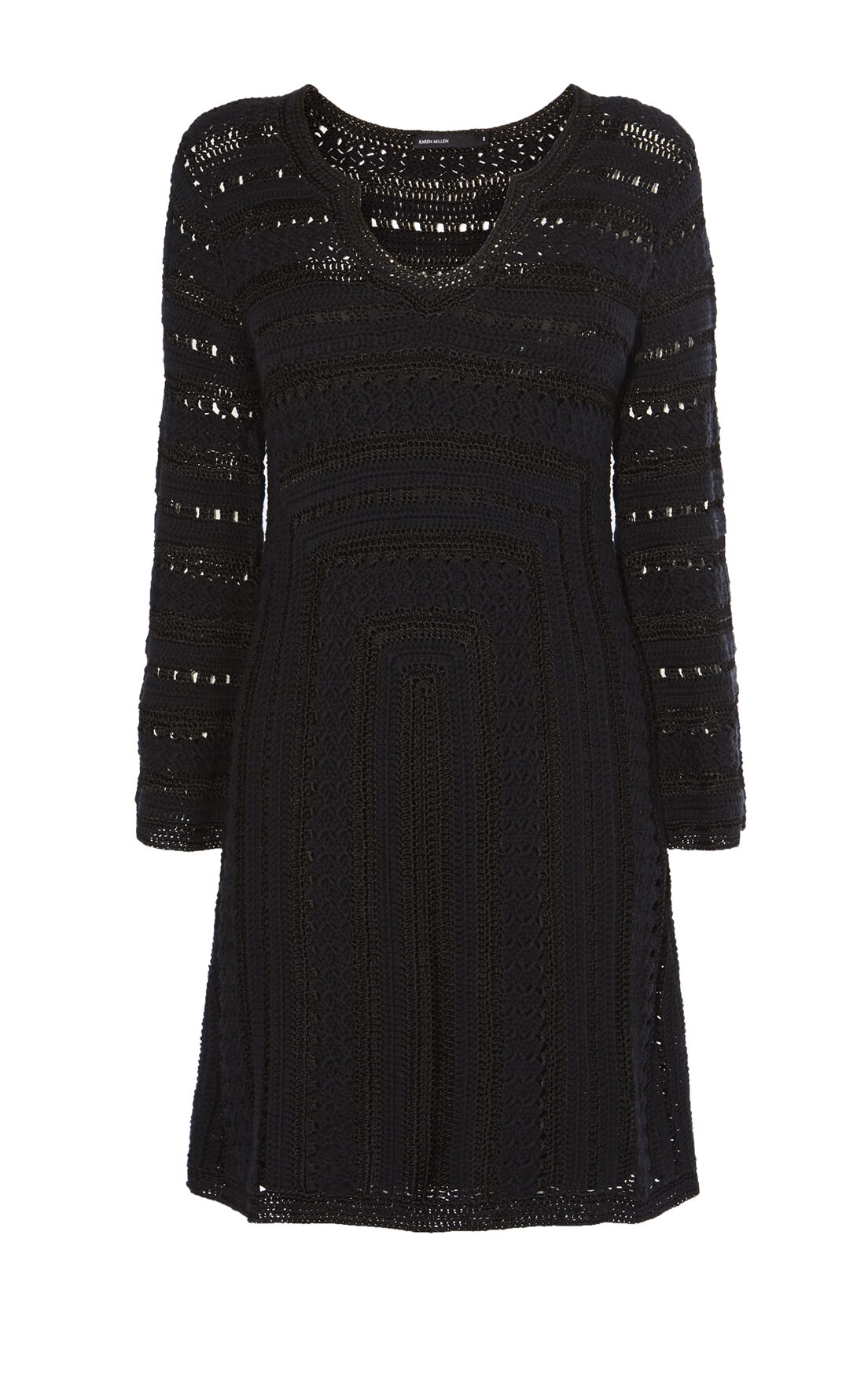 Karen Millen, CROCHET DRESS Black 0