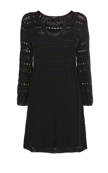 Karen Millen, CROCHET DRESS Black 0