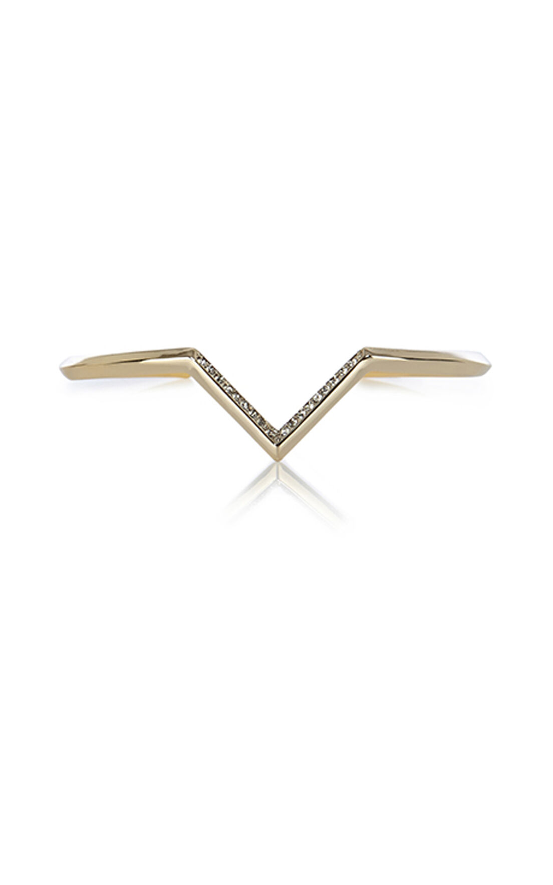 Karen Millen, The Angle Crystal Skinny Cuff Gold Col 0