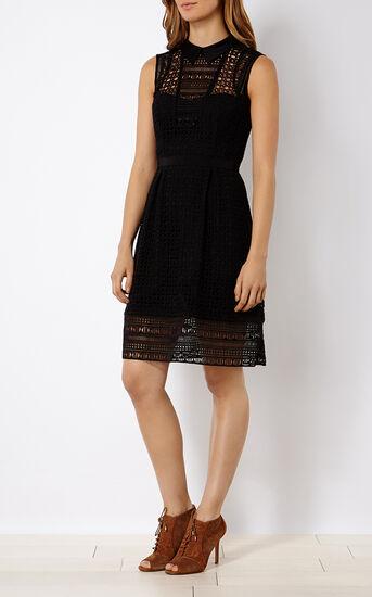 Karen Millen, BRODERIE SHIRT DRESS Black 1