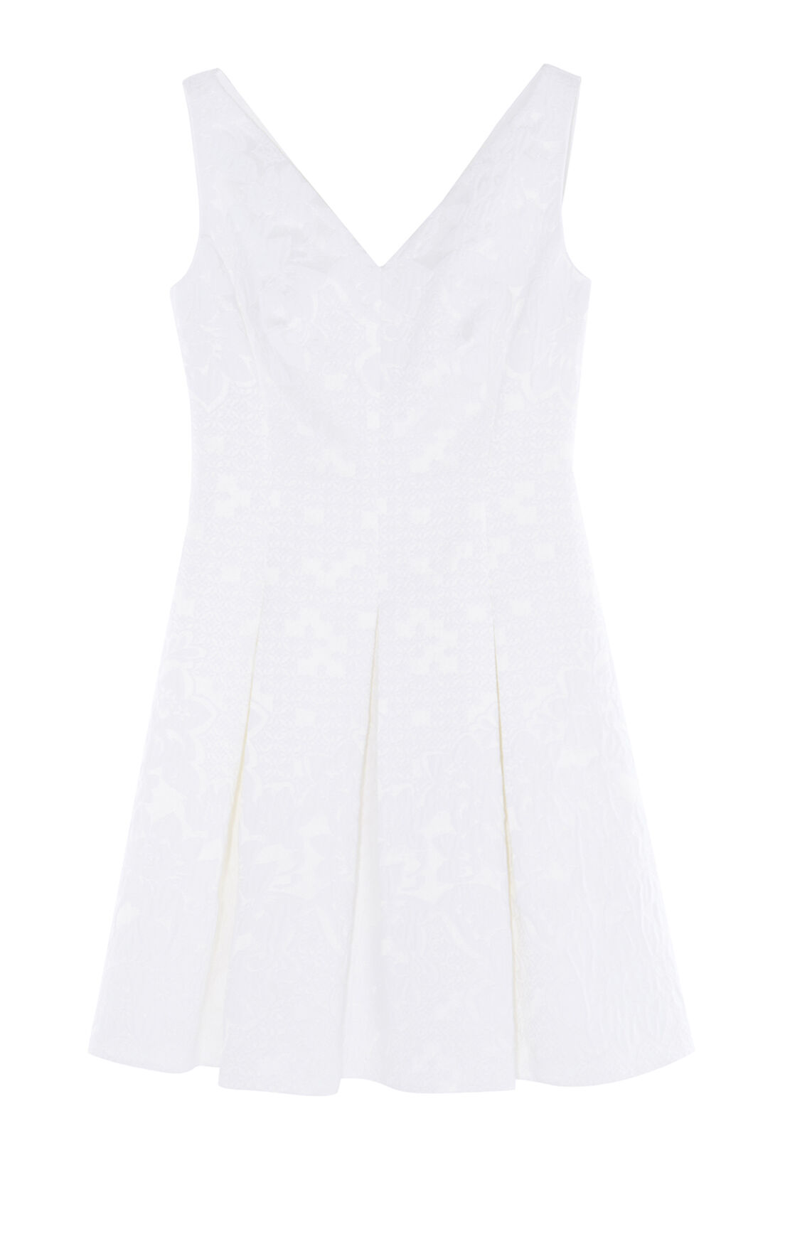 Karen Millen, JACQUARD DRESS White 0
