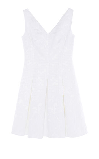 Karen Millen, JACQUARD DRESS White 0