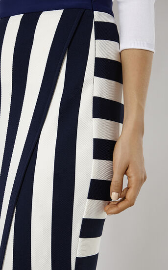 Karen Millen, STRIPED JERSEY SKIRT Blue/Multi 4