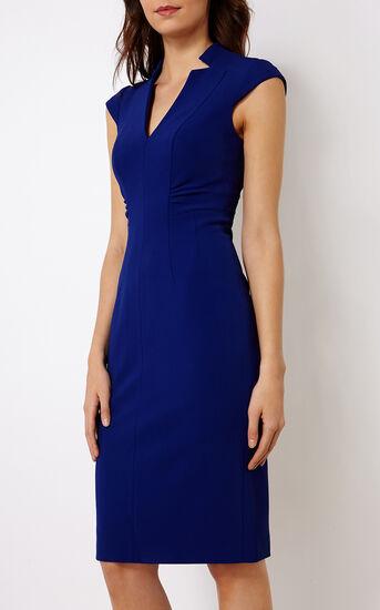 Karen Millen, V-NECK DRESS Blue 2