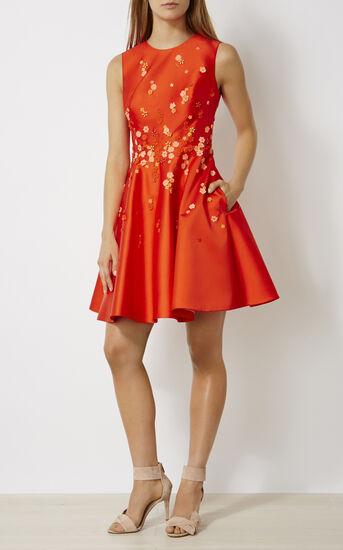 Karen Millen, BEADED PROM DRESS Orange 1