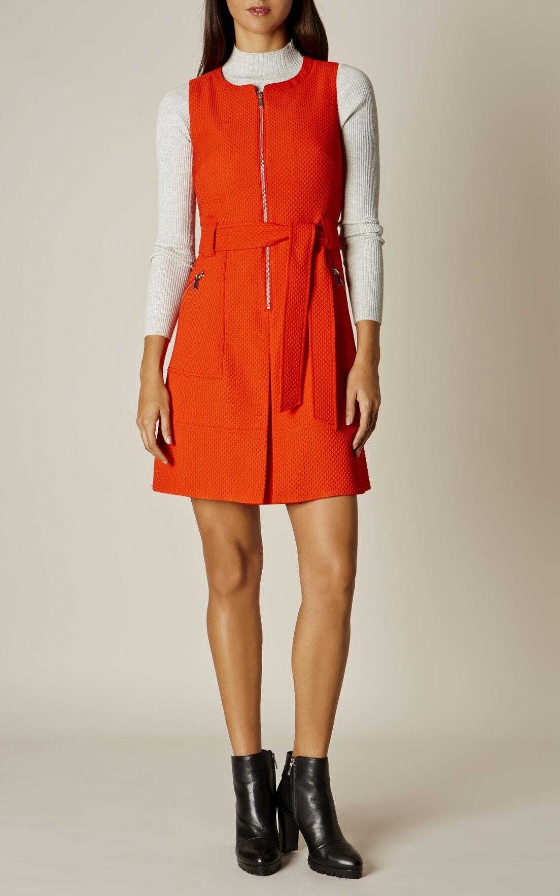 Karen Millen, ZIP-FRONT DRESS Orange 0