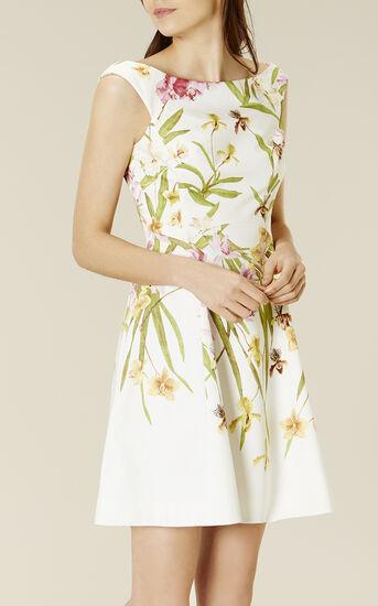 Karen Millen, LILY-PRINT COTTON DRESS Multicolour 2