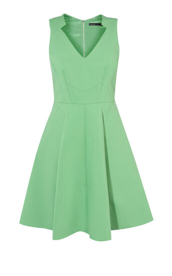 Karen Millen, GREEN COTTON DRESS Green 0
