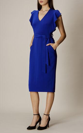 Karen Millen, FRILL WING DRESS Blue 1