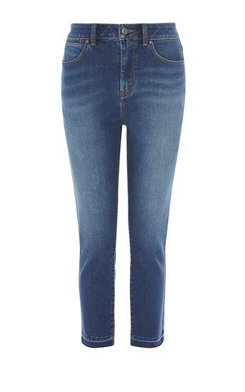 Karen Millen, Jeans mit ausgefranstem Saum Denim 0