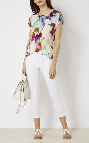 Karen Millen, ORCHID-PRINT T-SHIRT Multicolour 1