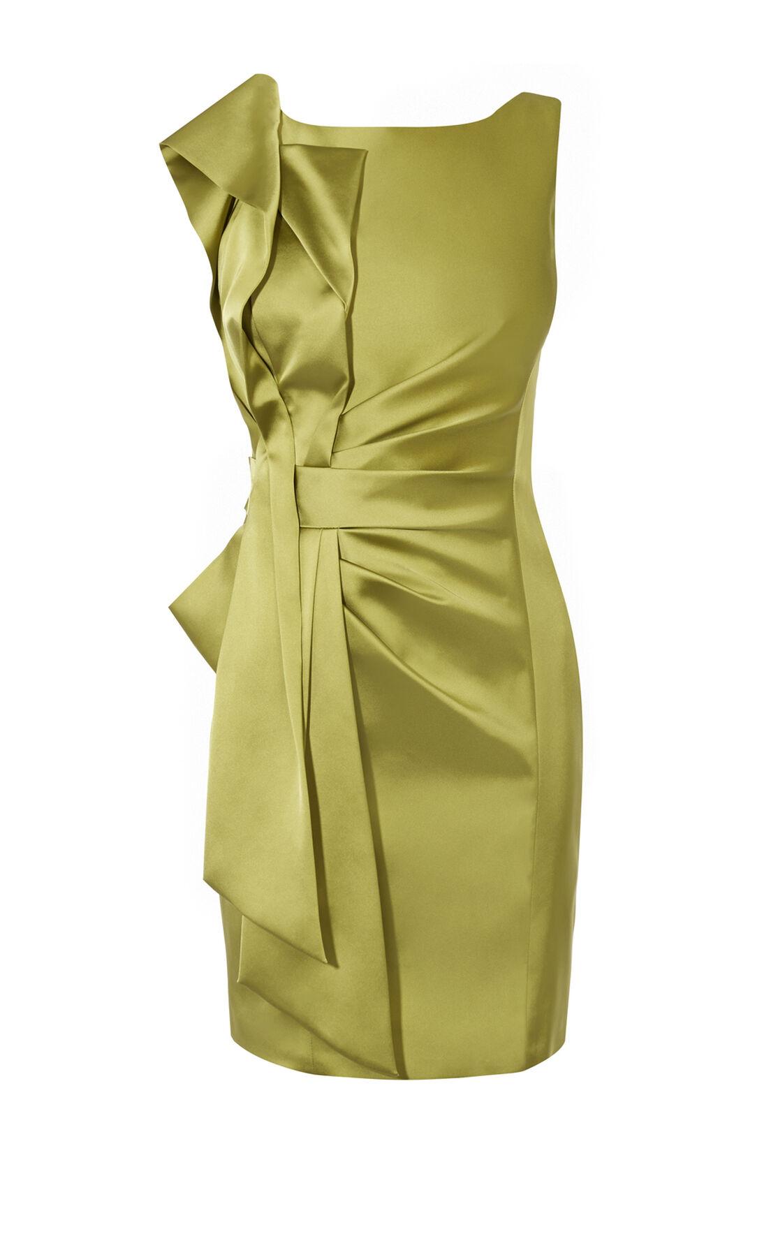 Karen Millen, SATIN PENCIL DRESS Lime 0