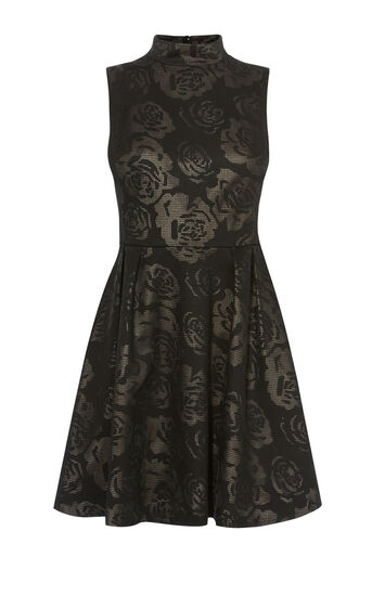 Karen Millen, ROSE SKATER DRESS Black 0