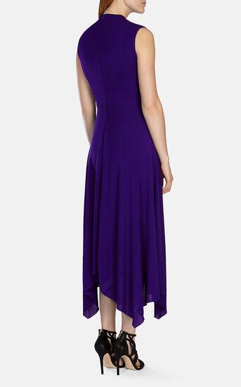 Karen Millen, FLUID CREPE LONG DRESS Purple 3