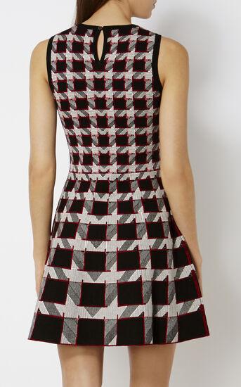 Karen Millen, GRAPHIC HOUNDSTOOTH DRESS Black/Multi 3