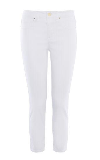 Karen Millen, 7/8-skinny-jeans In Weiß Weiß 0