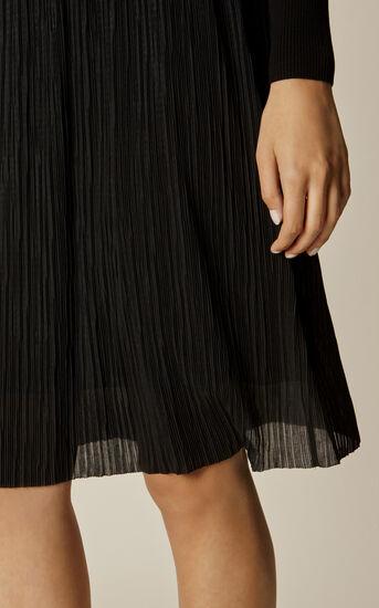 Karen Millen, PLEAT-SKIRT DRESS Black 4