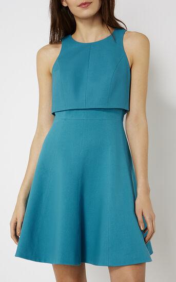 Karen Millen, CROP-DETAIL DRESS Turquoise 2