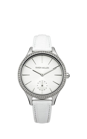 Karen Millen, LIZARD EFFECT WATCH WITH SWARO White 0