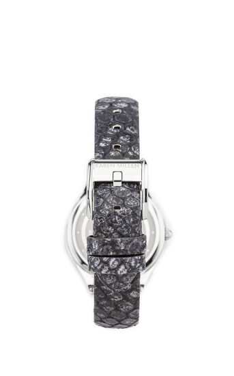 Karen Millen, Solid steel with python effect Black 2