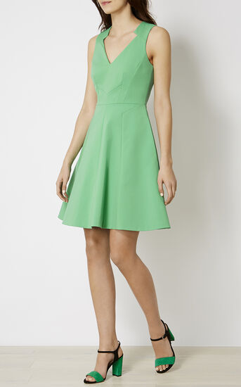 Karen Millen, GREEN COTTON DRESS Green 1