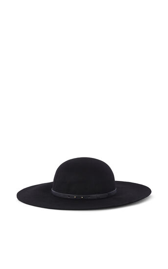 Karen Millen, WIDE BRIM HAT Black 0