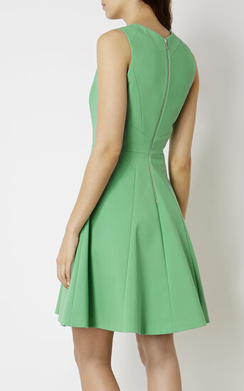 Karen Millen, GREEN COTTON DRESS Green 3