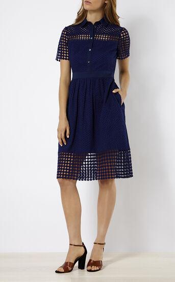 Karen Millen, BRODERIE DRESS Blue 1