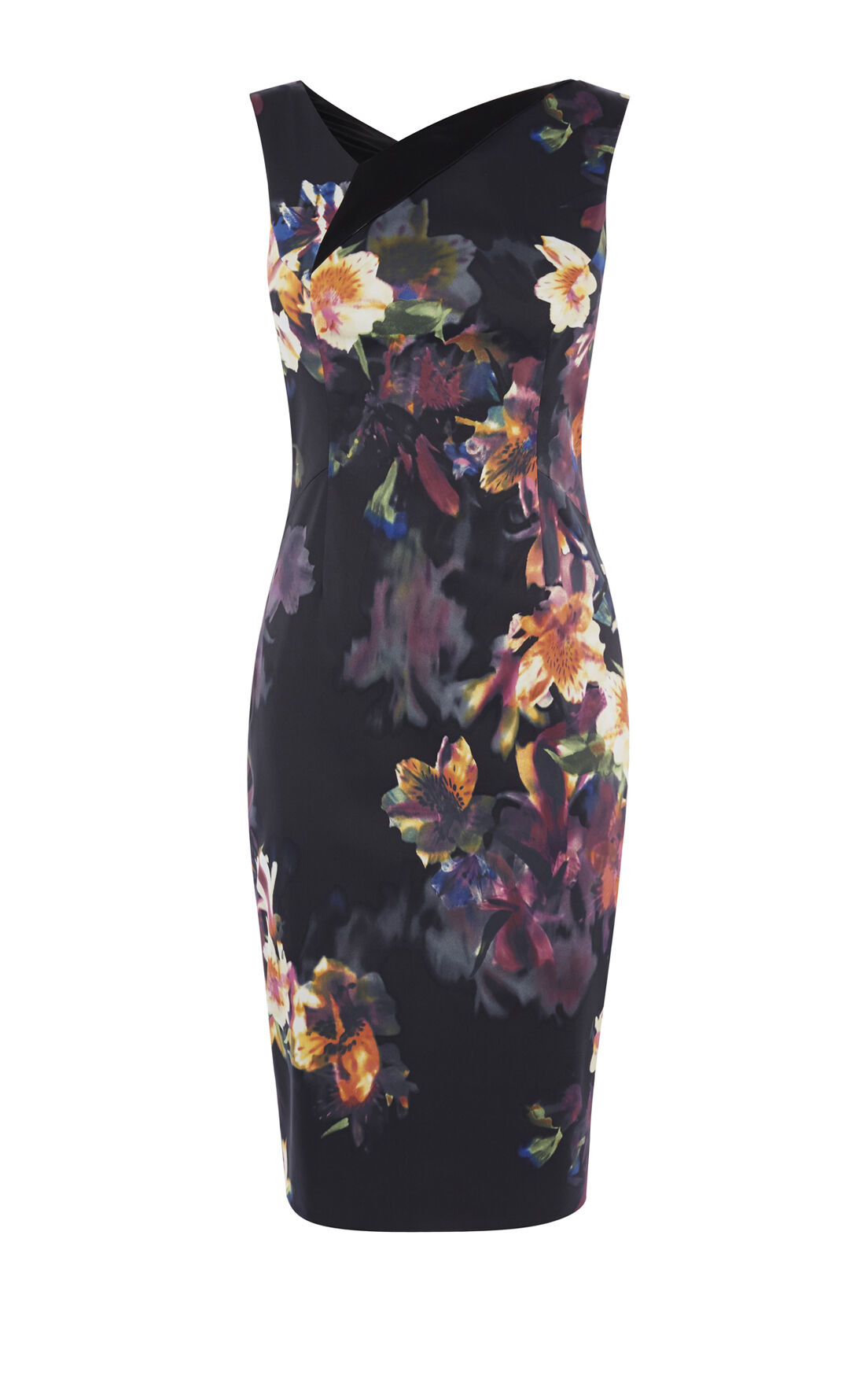 Karen Millen, ORCHID DRESS Multicolour 0