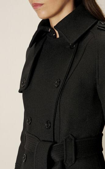 Karen Millen, BELTED COAT Black 4