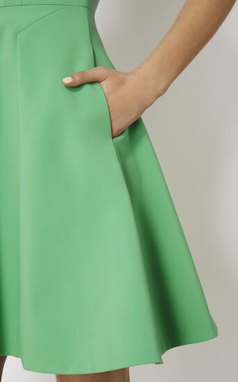 Karen Millen, GREEN COTTON DRESS Green 4