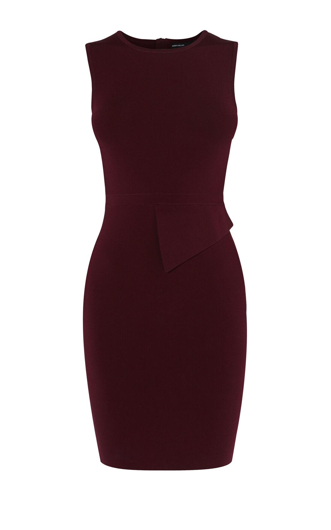 Karen Millen, ASYMMETRIC WAIST DRESS Purple 0