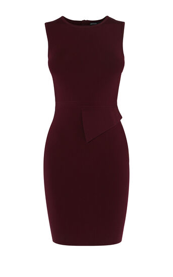 Karen Millen, ASYMMETRIC WAIST DRESS Purple 0
