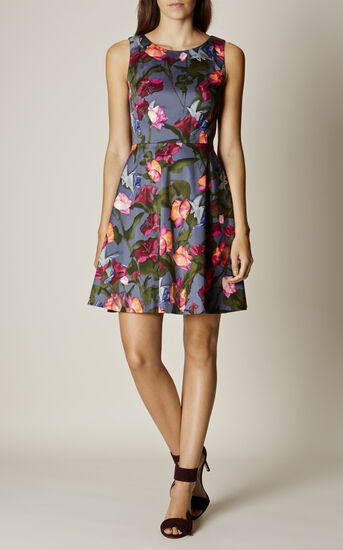 Karen Millen, STORMY ROSES DRESS Multicolour 1