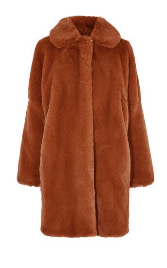 Karen Millen, TEDDY FUR COAT Tan 0