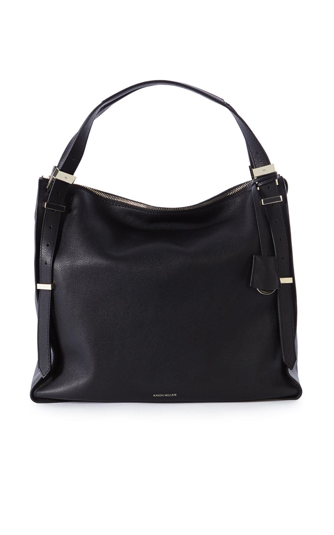 Karen Millen, LARGE LEATHER SLING BAG Black 0