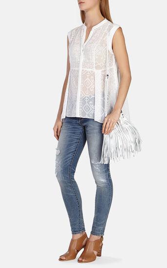 Karen Millen, Softly tailored embroidered vo White 1