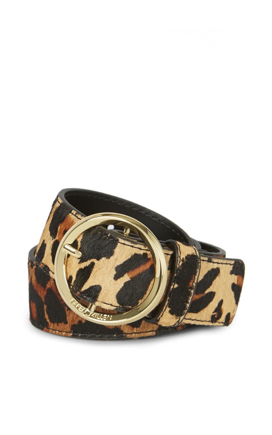Karen Millen, LEOPARD PRINT BELT Leopard Print 0