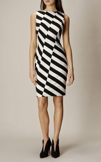 Karen Millen, BARCODE DRESS Black & White 1